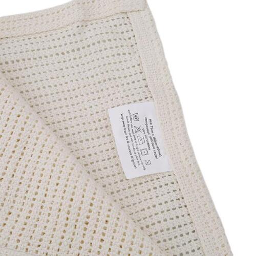 Newborn Baby Gift Boy Girls Soft Cellular Blanket Cheap Cot Crib Bed Comforter Q