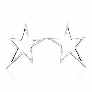 Elegant-Women-Solid-925-Sterling-Silver-Star-Stud-Earrings-Fashion-Jewelry