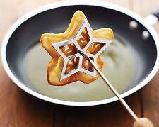 Scandinavian Fritter Cookie Set Rosette Maker Like Waffle Branding Iron