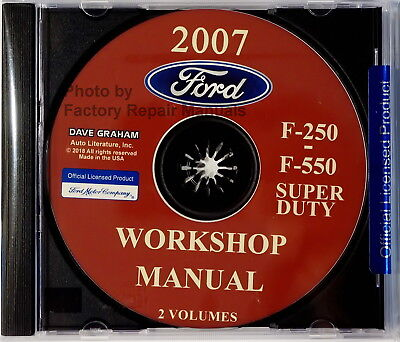 2018 Ford TRUCK F-250 F350 F250 450 550 Service Shop Workshop Manual CD New