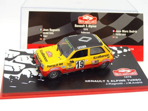 Ixo Presse Rallye Monte Carlo 1//43 Renault 5 Alpine Turbo 1978
