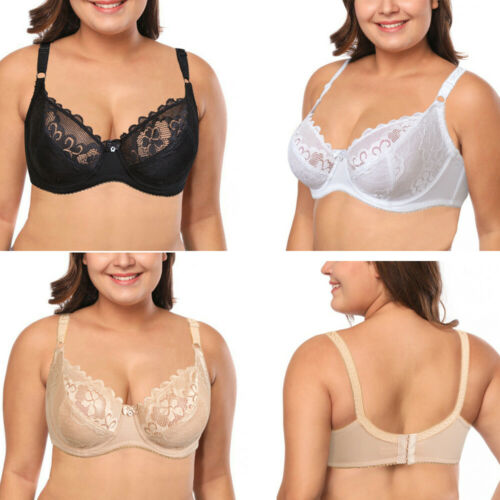Women's Ladies Side Support Full Cup Bra Comfort Soft Cup Large Bosom Lingerie