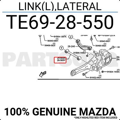 Rear Lower Control Arm Rearward Arms Lateral Links 04-13 Mazda 3 06-14 Mazda 5