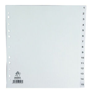 Details about 3x Packs A4 Numbered 1-15 Part Index Tab Subject Folder File  Dividers WX01355