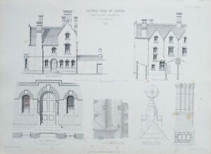 1868-Architektonisch-Aufdruck-Doppel-Villa-bei-Derby-Hine-amp-Evans-Nottingham