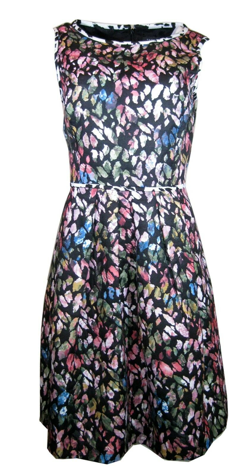 134 Tahari By ASL Floral Jacquard Fit-and-flare Dress, Size-8