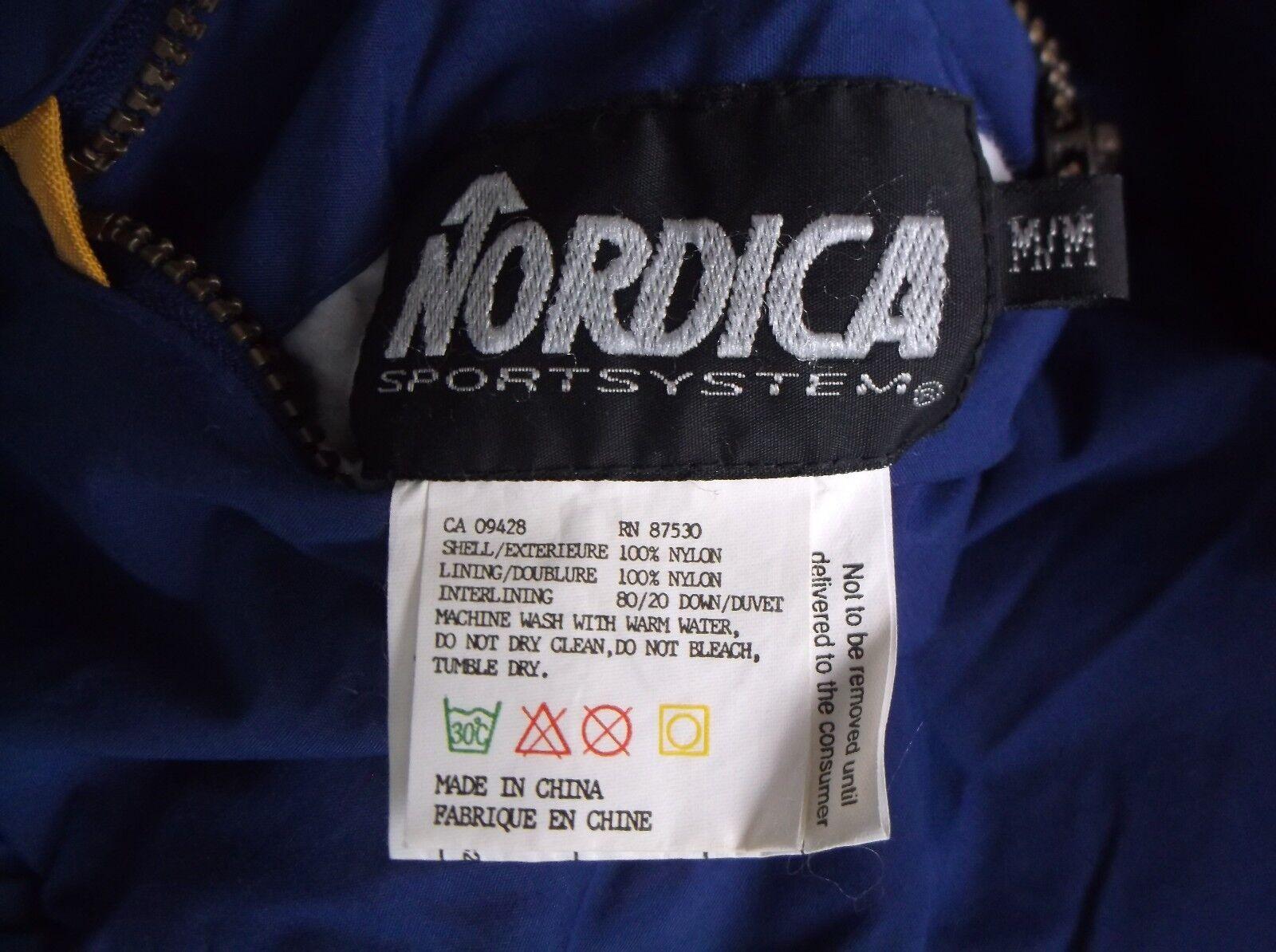 Vintage Women's Nordica Nordica Nordica Sportsystem Reversible Zip Down Vest Aztec Tribal Trim M 8d22d4