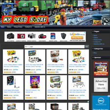 Lego Building Blocks Toys Store Affiliate Online Business Website For Sale