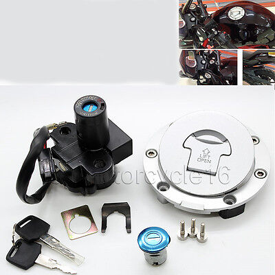 Ignition Switch Fuel Gas Cap Cover Seat Lock Key Set for Honda CBR600RR F5 07-13