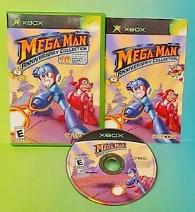MegaMan-Anniversary-Collection-Microsoft-Xbox-OG-Game-Rare-Complete-Tested