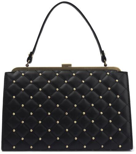Lola Ramona STACY QUILT Bettie Page Nieten KISSLOCK Tasche Handbag Rockabilly