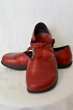 Women Earth Shoes Sz 8.5 Red Rosso Stella Hippie Mary Jane Ergonomical Sandal