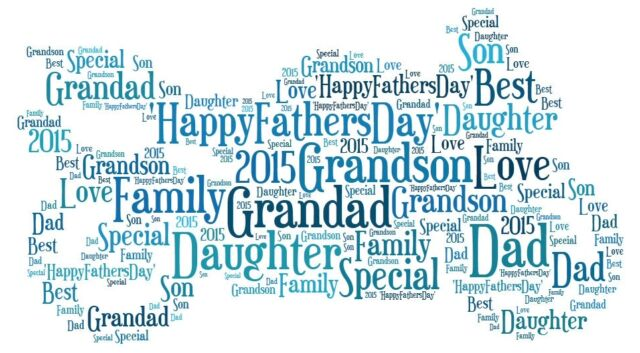 PERSONALISED FATHER GRANDAD DADDY WORD ART KEEPSAKE UNIQUE CHRISTMAS GIFT