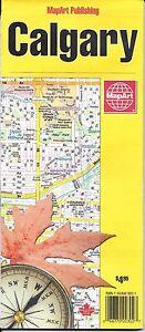 Map of Calgary, Canada, by MapArt Publishing 9781553683025   eBay Calgary Map Canada on