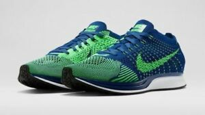 bfb2dff26227f Nike Flyknit Racer Seattle Seahawks Brave Blue Poison Green Size 6.5 ...