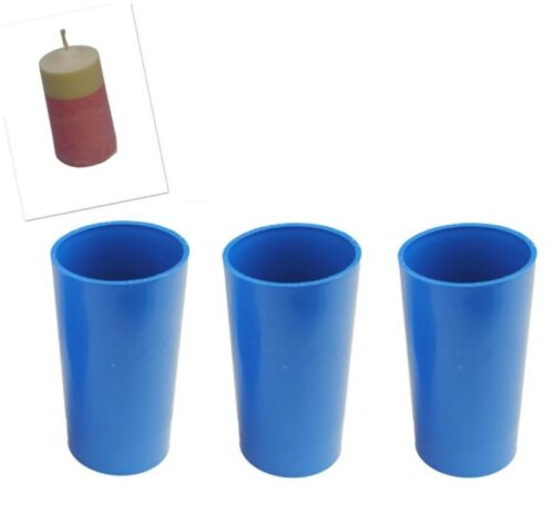 """Proops Set x 3 Seamless Pillar Shaped Candle Moulds 4 1//2/"""" Long 2/"""" Dia S7588"""
