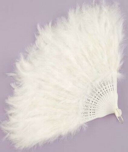 White Feather Costume Fan