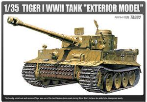 1-35-Tiger-1-WWll-Tank-034-Exterior-Model-034-13264-Academy-HOBBY-MODEL-KITS
