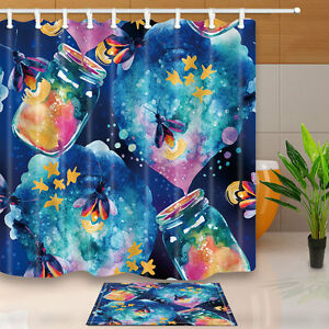 Image Is Loading Magic Bottle And Firefly Shower Curtain Bathroom Decor