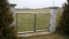Gartentor Edelstahl Pforte Zaun Eingangstor Maße nach Wunsch