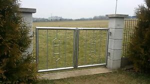 gartentor edelstahl pforte zaun eingangstor maße nach wunsch | ebay - Gartentor Edelstahl