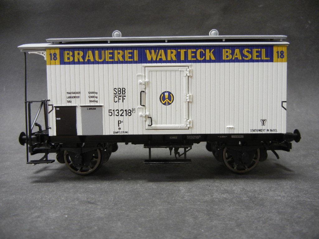 Spur 0 MTH 122909400 Bierwagen Brauerei Warteck Basel 2-achsig Neu im Karton