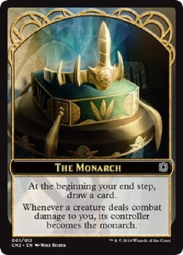 X25 Conspiracy NM The Monarch Take the Crown Token Emblem MTG