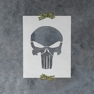 Details about Punisher Skull Stencil - Reusable Stencil of the Punisher  Skull