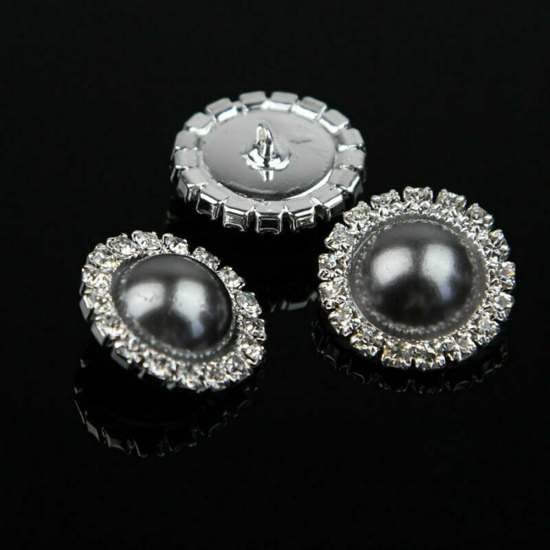 W265 Large 25mm 40L White /& Silver Shank Jacket Coat Chunky Buttons Button