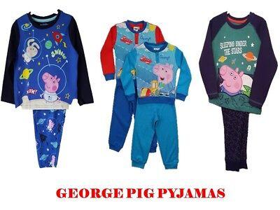 """Obbiettivo Ragazzi Per Bambini """"george Pig"""" Manica Lunga Set 2 Pezzi Pigiama Nightwear """"peppa Pig""""- Per Cancellare Il Fastidio E Per Estinguere La Sete"""