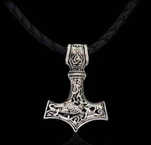 Le marteau de Thor collier-Viking Metal ASATRU païens païens nordiques Mjolnir Motard