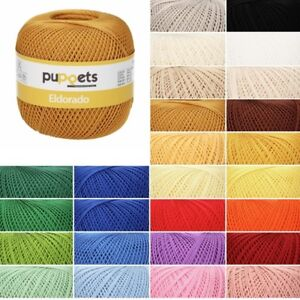 Puppets-Eldorado-No-10-100-Cotton-Crochet-Thread-Craft-50g-Ball