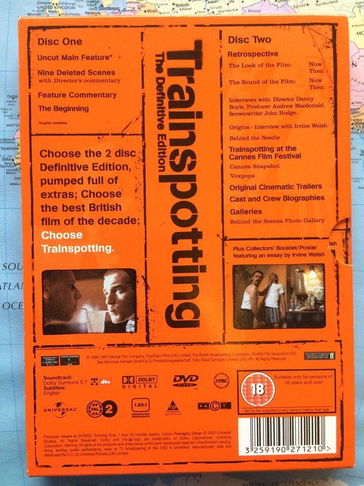 Trainspotting, instruktør Danny Boyle, DVD