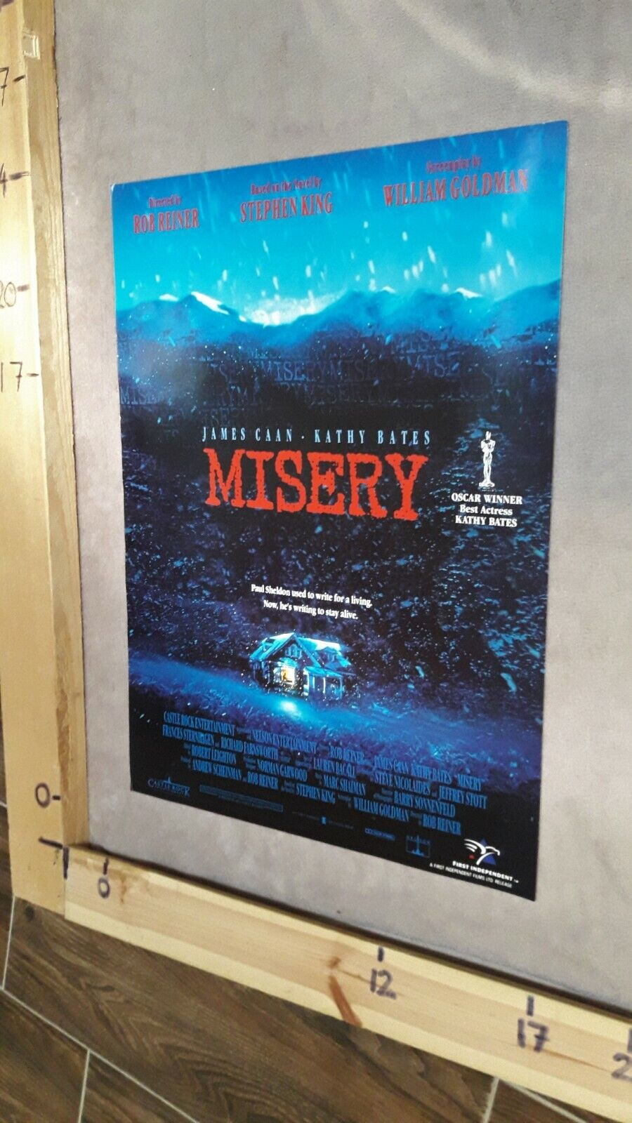 Misery (1990) Stephen King - UK Video poster - FREE SHIPPING