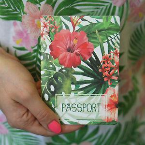 Passport Holder TROPICS, vinyl cover Document ID Travel case protector skin