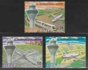 224-MALAYSIA-1998-KUALA-LUMPUR-INTERNATIONAL-AIRPORT-KLIA-SET-FRESH-MNH
