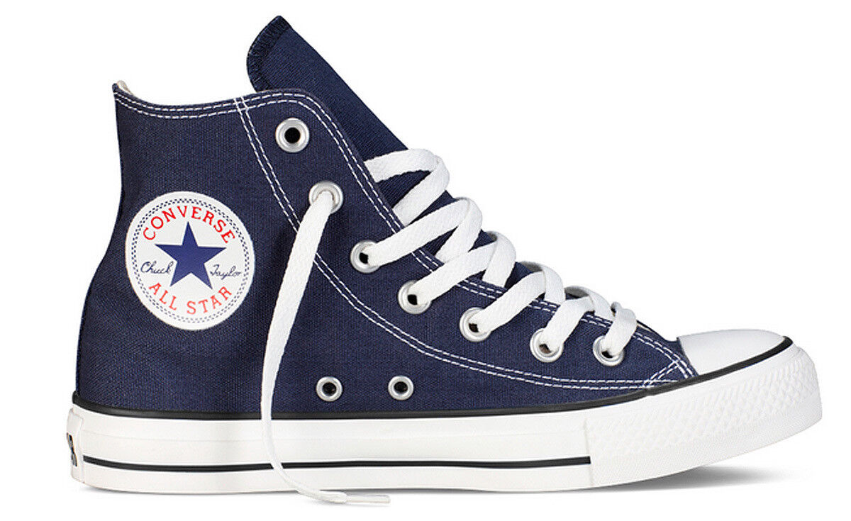Converse All Star Hi Womens Navy White Canvas Trainer