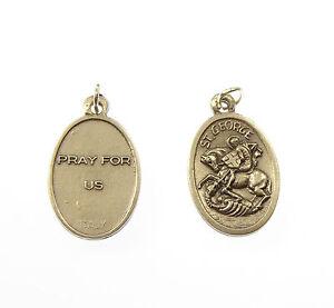 SAINT-GEORGES-argent-medaille-pendentif-pour-chapelet-de-perles-2cm-catholique