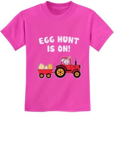 Easter Egg Hunt Gift for Tractor Loving Kids Youth Kids T-Shirt Easter Bunny /&