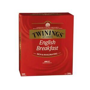 Twinings English Breakfast Tea Bags 100 pack 200g