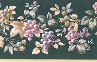 Royal Kitchen Grape Vine Dark Geen Textured 2 Roll 30 Feet 30' Wallpaper Border