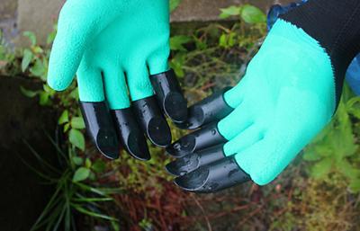 2 Paio Di Guanti Da Giardino Artiglio A Scavare E Piantare Gli Artigli Su Entrambe Le Mani Giardinaggio-mostra Il Titolo Originale Qualità Eccellente