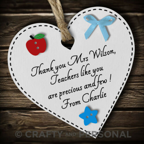 Personalised Teacher gift plaque thank you present Tutor Mentor leaving School