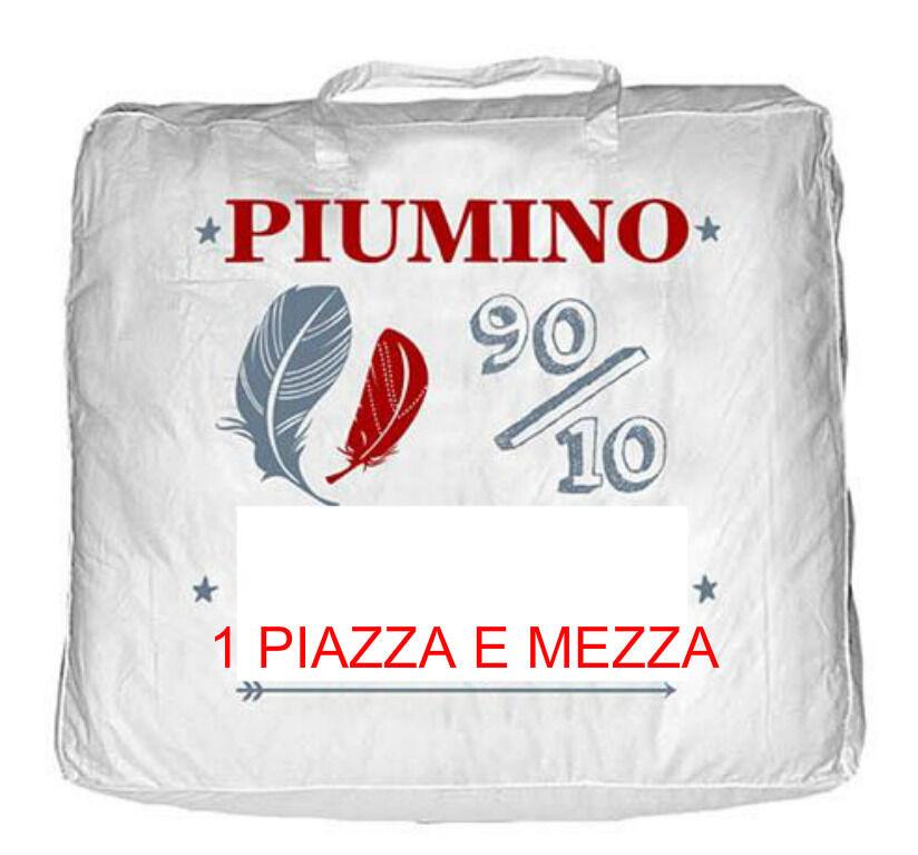 Piumino d' Oca Naturale Piazza e mezza 90% Piuma 10% piumette Piumone Piume