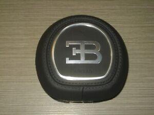 Bugatti Chiron Airbagabdeckung Leder schwarz Airbag cover Lenkrad Steering Horn