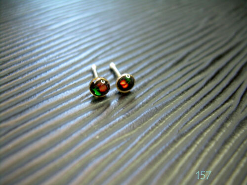 """One Piece 20g 1//4/"""" .925 Silver 3MM Cherry Nose Pin Stud Ring Bone #157"""