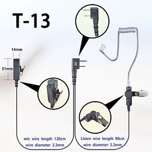 2 wire headset earphone mic for icom ic f1000d ic f2000d. Black Bedroom Furniture Sets. Home Design Ideas