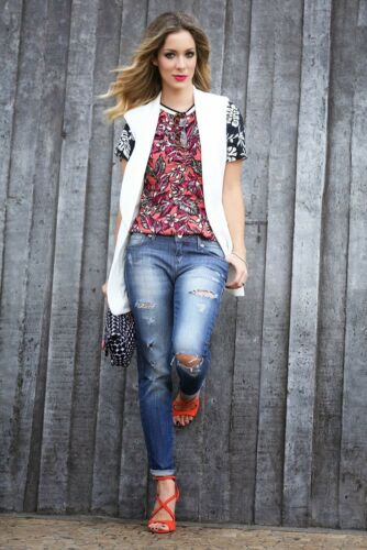 2271 Druck Top 636 Blumen Bluse Medium Zara Ref größe w0ZqAwxTz