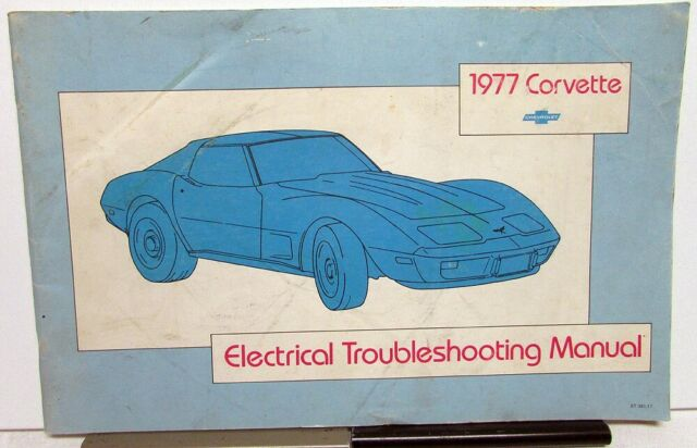 1977 Chevrolet Dealer Electrical Wiring Diagram Service