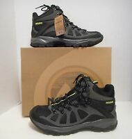 Nevados Men's Black / Gray Mid Hiking Ankle Boots Lace Up Leather & Mesh